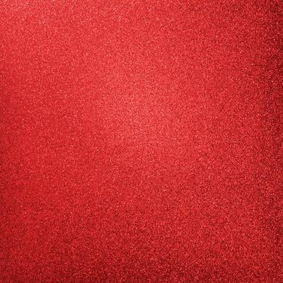 Kaisercraft Glitter Cardstock 12 inch X12 inch - Ruby