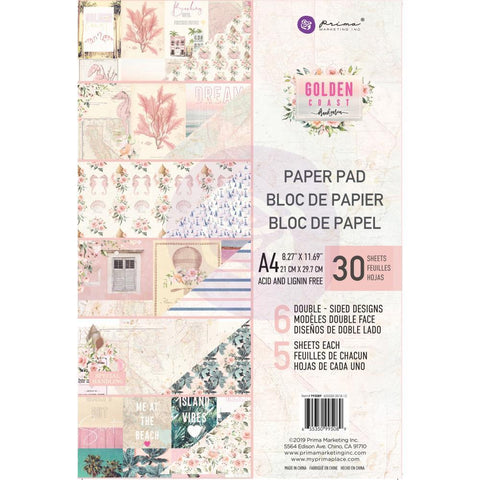 Prima Marketing D/S Paper Pad A4 30 pack - Golden Coast