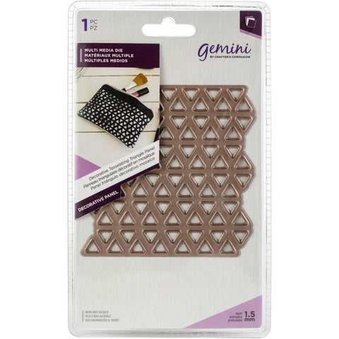 Crafters Companion - Gemini Multi-Media Decorative Panel Die - Tessellating Triangle Panel 3.9x3.9 inch
