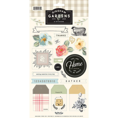 My Minds Eye - Gingham Gardens Stickers 6in x 12in