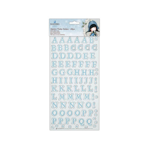 Santoros Gorjuss Thicker Stickers 166 pack - Alphabet