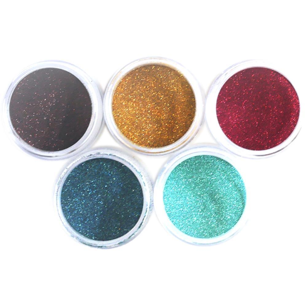 Elizabeth Craft Silk Microfine Glitter Palette 5 pack - Earth