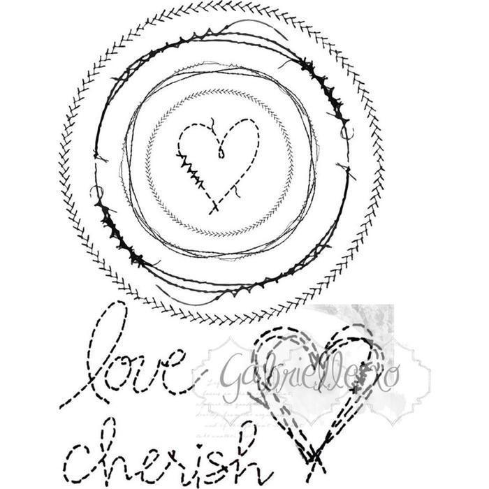 49 And Market Clear Stamp Set - Gabi's Circle Stitch Stamp