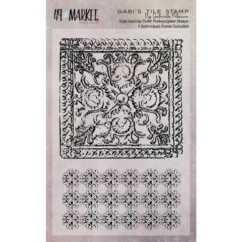 49 And Market Clear Stamps 4 inch X6 inch Gabis Tile