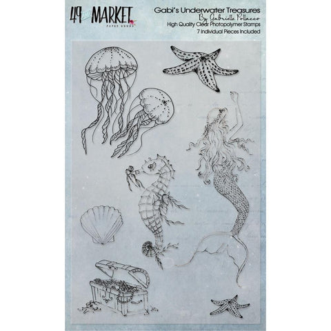 49 And Market - Clear Stamps 4 inch X6 inch - Gabis Underwater Adventures