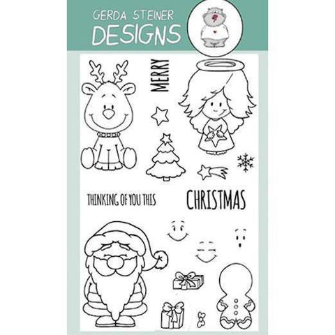 Gerda Steiner - Holiday Friends 4x6 inch Clear Stamp Set
