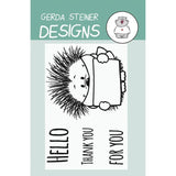 Gerda Steiner - Hedgehog With Sign 2x3 inch Clear Stamp Set