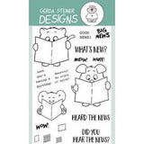Gerda Steiner - Whats New? 4x6 inch Clear Stamp Set