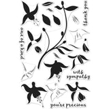 Hero Arts Clear Stamps 4 inch X6 inch Color Layering Fuchsia