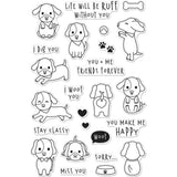 Hero Arts Clear Stamps 4 inch X6 inch Woof
