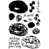 Hero Arts Clear Stamps 4 inch X6 inch Color Layering Croissant