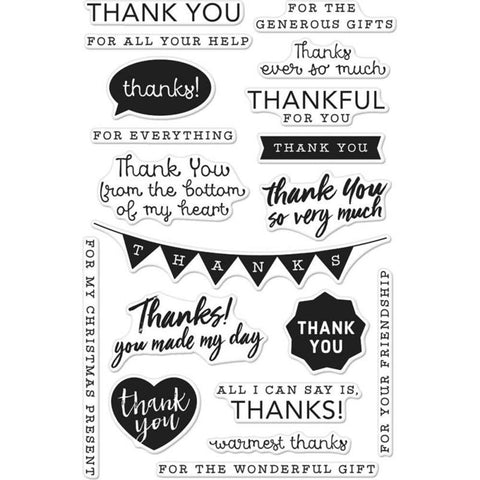 Hero Arts Clear Stamps 4 inch X6 inch Thank You Messages