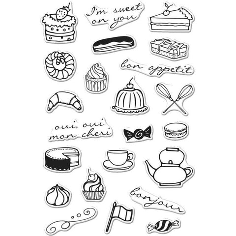 Hero Arts Clear Stamps 4 inch X6 inch French Treats