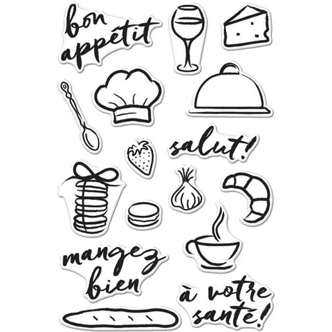 Hero Arts Clear Stamps 4 inch X6 inch Bon Appetit
