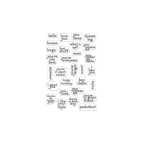 Hero Arts - Greetings Clear Stamps 3 inch X4 inch - Mini Messages