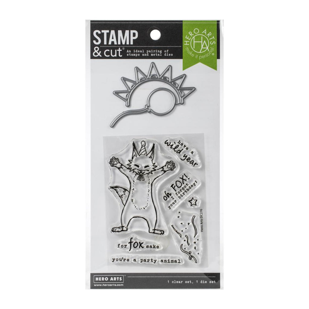 Hero Arts Stamp & Cut set - Party Fox