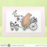 Waffle Flower Clear Stamps - Happy Day
