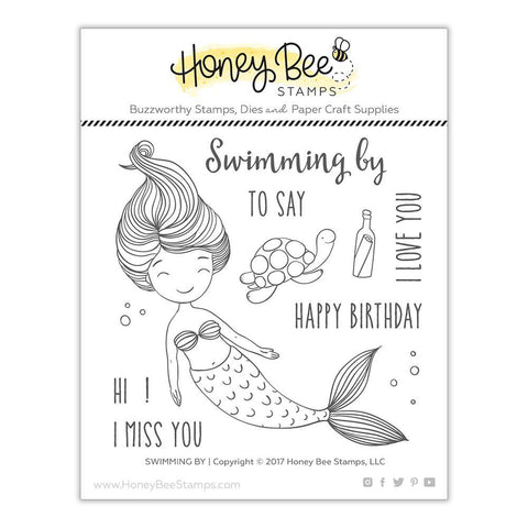 Honey Bee Stamps - 4x4 inch Stamp Set - Swimming By