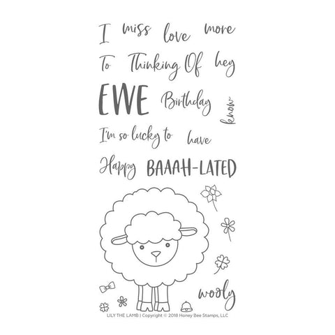 Honey Bee 4x8 inch Stamp Set - Lily The Lamb