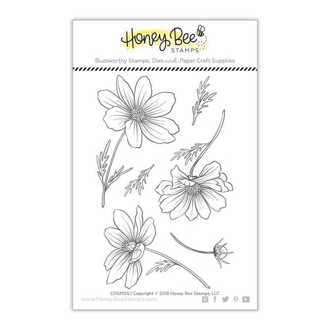 Honey Bee Stamps - 4x6 inch Stamp Set - Cosmos