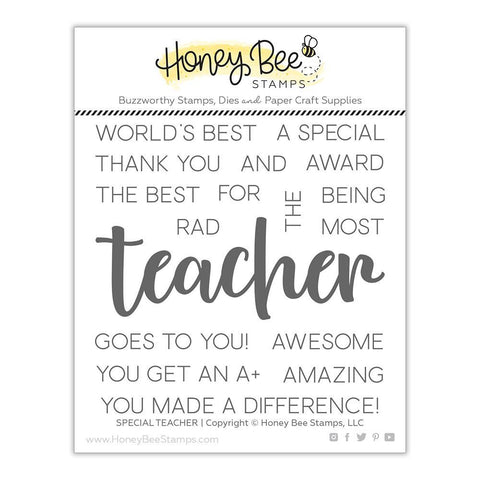 Honey Bee Stamps - 4x4 inch Stamp Set - Special Teacher