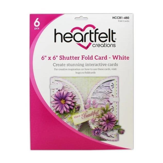 Heartfelt Creations Circle Card 6in x 6in 8 pack - Shutter Fold - White