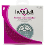 Heartfelt Creations Cut & Emboss Dies Rounded Scallop Window 2.5in To 6in