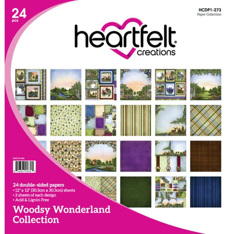 Heartfelt Creations 12x12 inch D/S Paper Pad - Woodsy Wonderland