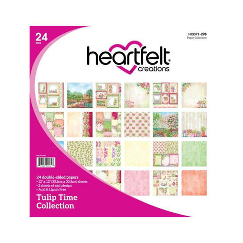 "Heartfelt Creations Double-Sided Paper Pad 12 X 12"" 24 pack - Tulip Time"