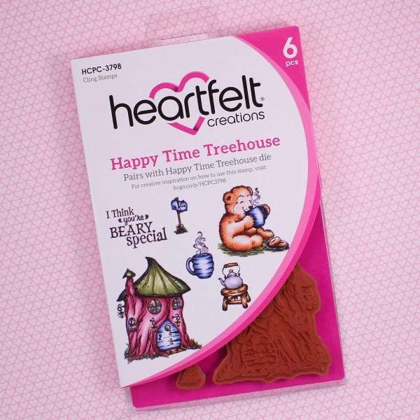 Heartfelt Creations Cling Rubber Stamp Set - Happy Time Treehouse