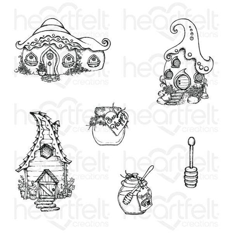 Heartfelt Creations Cling Rubber Stamps - Honey Bee Bungalows