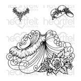 Heartfelt Creations Cling Rubber Stamp Set - Elements Of Fashion