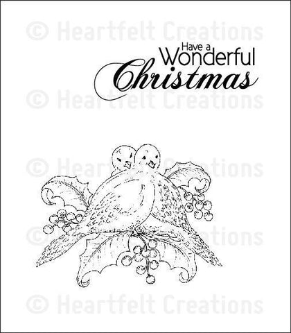 Heartfelt Creations Festive Christmas Stamps - Dove Of Peace