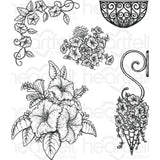Heartfelt Creations Cling Rubber Stamp Set - Classic Petunia Bouquet 1.25 To 4.25 inch