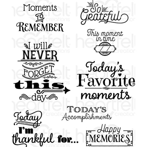 Heartfelt Creations Cling Rubber Stamp Set - Todays Quotes