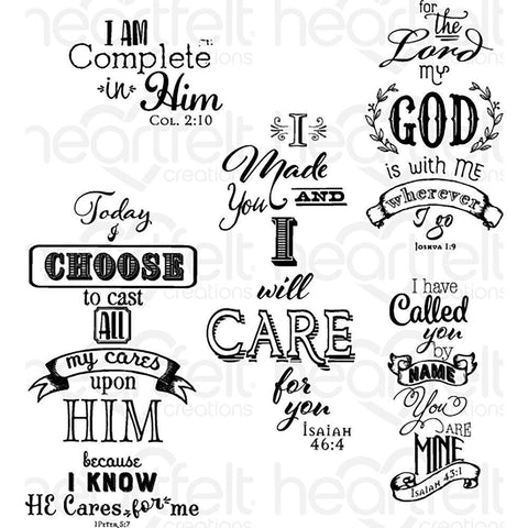Heartfelt Creations Cling Rubber Stamp Set - Words Of Comfort
