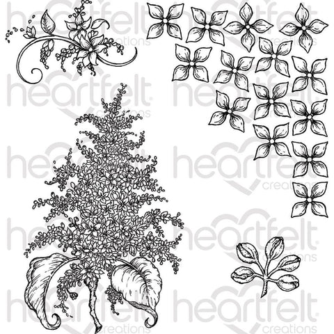Heartfelt Creations Cling Rubber Stamp Set 5x6.5 inch - Lush Lilac