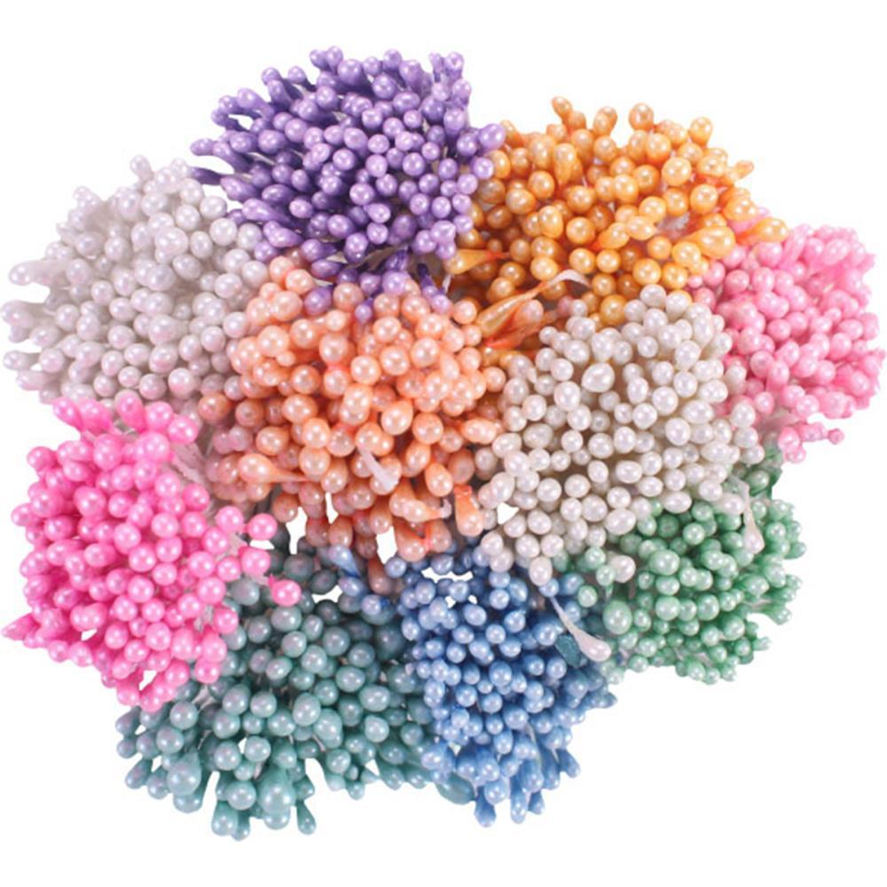 "Heartfelt Creations - Pearl Stamens Small 1mmx2.25"" 10 pack Pastel"