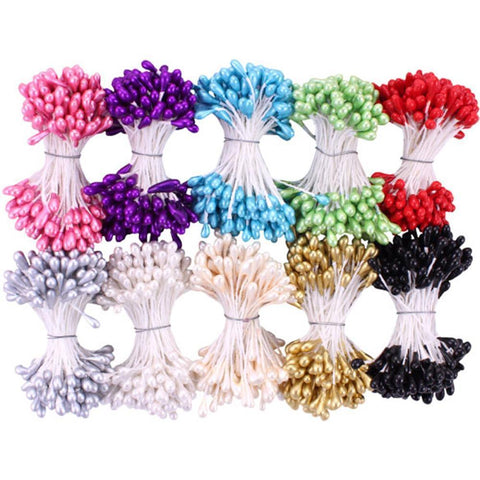 Heartfelt Creations - Pearl Stamens Medium 5mmx2.25 inch - Assorted 10 pk