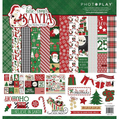 PhotoPlay - Collection Pack 12x12 inch - Here Comes Santa