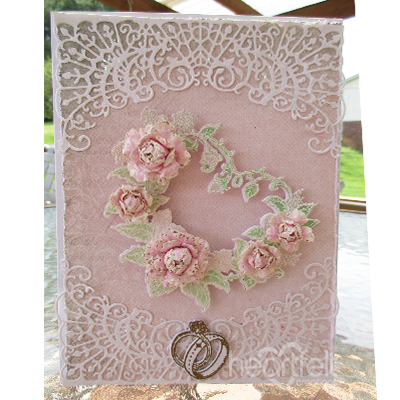 Heartfelt Creations Cling Rubber Stamp Set Classic Wedding Roses