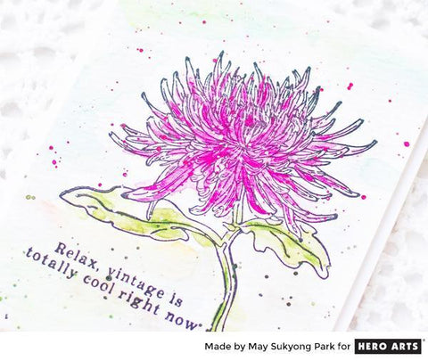 Hero Arts - Florals Stamp & Cut - Mum