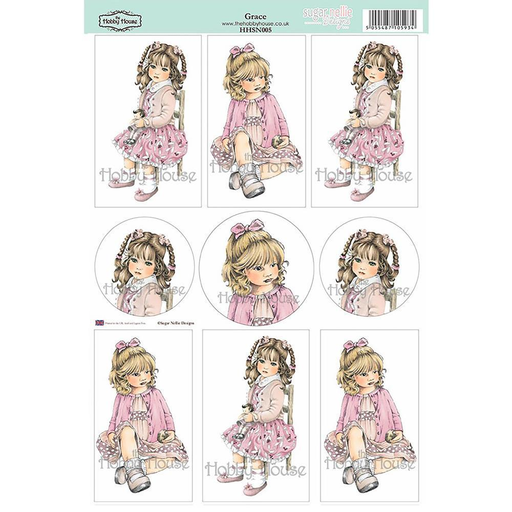 Hobby House - Sugar Nellie Designs Topper Sheet 8.5X12.2 Grace