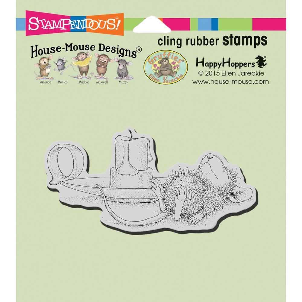 Stampendous House Mouse Cling Stamp 4.75 inch X4.5 inch Nap By Candle