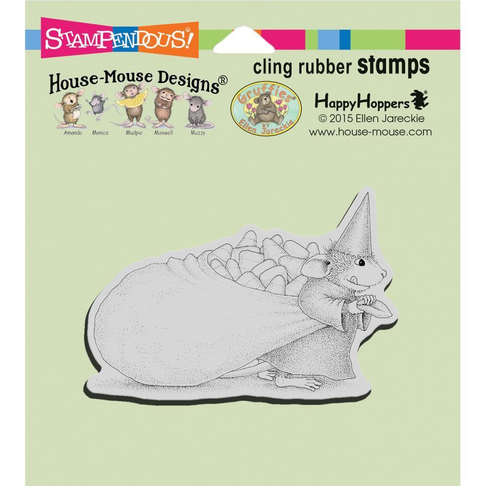 Stampendous House Mouse Cling Stamp 4.75 inch X4.5 inch Candy Witch