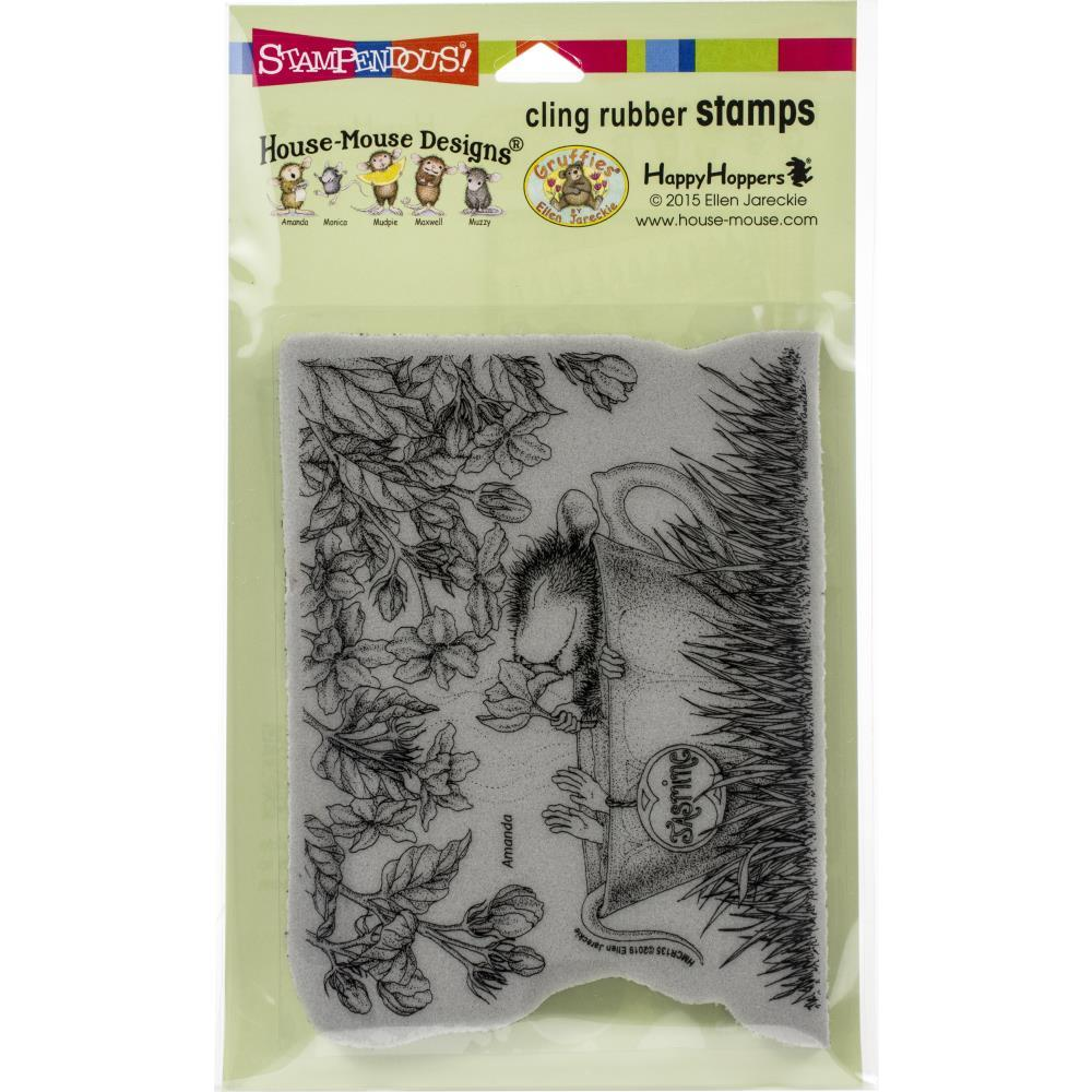 Stampendous House Mouse Cling Stamp - Jasmine Tea