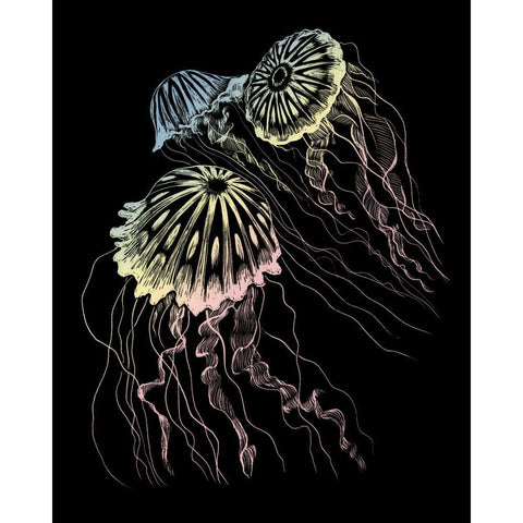 Royal Brush - Holographic Foil Engraving Art Kit 8 inch X10 inch - Jellyfish