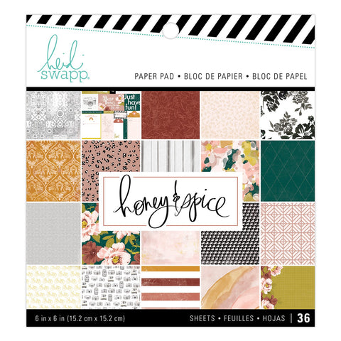 Heidi Swapp - Patterned Paper Pad 6in x 6in - Honey and Spice