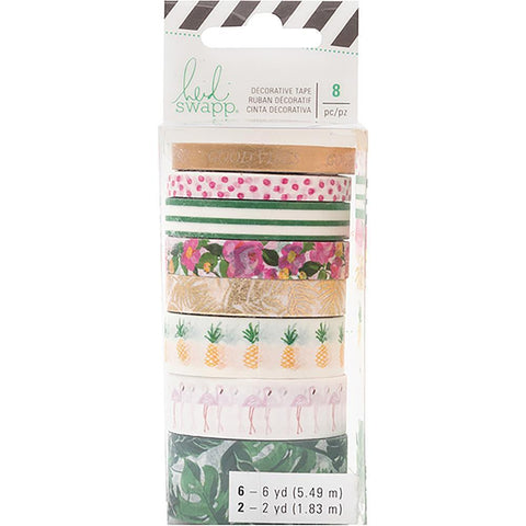 Heidi Swapp Memory Planner Washi 8 pack Fresh Start - Tropical