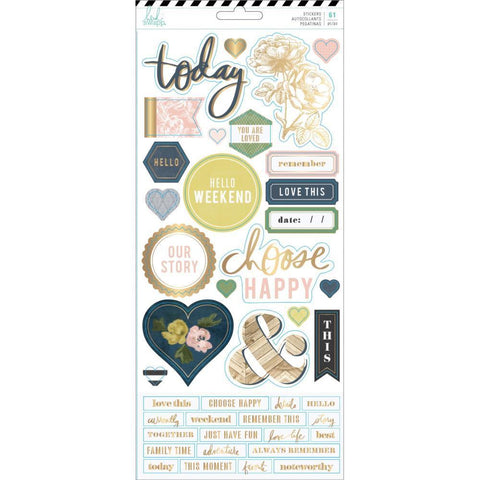 Heidi Swapp - Emerson Lane Cardstock Stickers 61 pack